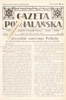 Gazeta Podhalańska : tygodnik poświęcony sprawom Podhala, Spisza, Orawy. 1932, nr9