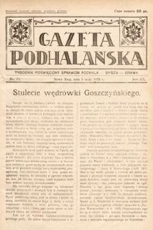 Gazeta Podhalańska : tygodnik poświęcony sprawom Podhala, Spisza, Orawy. 1932, nr19