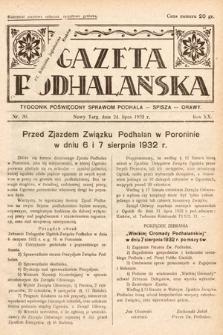 Gazeta Podhalańska : tygodnik poświęcony sprawom Podhala, Spisza, Orawy. 1932, nr30