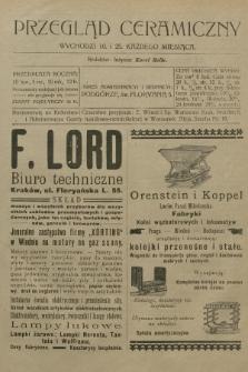 Przegląd Ceramiczny. R.7, 1907, nr3