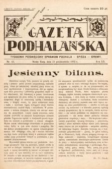 Gazeta Podhalańska : tygodnik poświęcony sprawom Podhala, Spisza, Orawy. 1932, nr43
