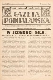 Gazeta Podhalańska : tygodnik poświęcony sprawom Podhala, Spisza, Orawy. 1932, nr45
