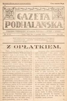 Gazeta Podhalańska : tygodnik poświęcony sprawom Podhala, Spisza, Orawy. 1932, nr51