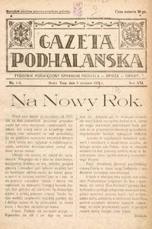 Gazeta Podhalańska : tygodnik poświęcony sprawom Podhala, Spisza, Orawy. 1933, nr1-2
