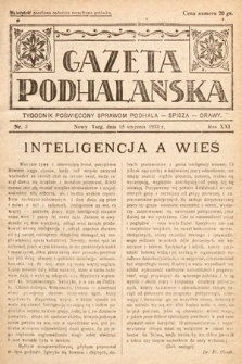 Gazeta Podhalańska : tygodnik poświęcony sprawom Podhala, Spisza, Orawy. 1933, nr3
