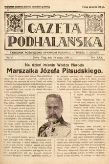 Gazeta Podhalańska : tygodnik poświęcony sprawom Podhala, Spisza, Orawy. 1934, nr6