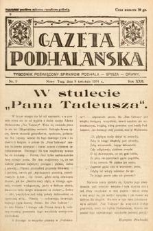 Gazeta Podhalańska : tygodnik poświęcony sprawom Podhala, Spisza, Orawy. 1934, nr9
