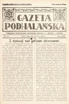 Gazeta Podhalańska : tygodnik poświęcony sprawom Podhala, Spisza, Orawy. 1934, nr13