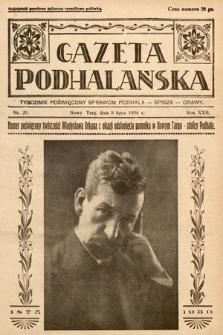 Gazeta Podhalańska : tygodnik poświęcony sprawom Podhala, Spisza, Orawy. 1934, nr20