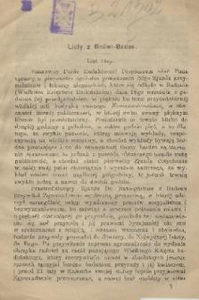 Listy z Baden-Baden