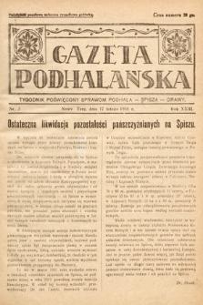 Gazeta Podhalańska : tygodnik poświęcony sprawom Podhala, Spisza, Orawy. 1935, nr3