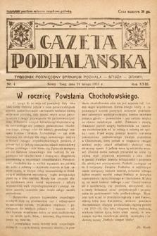Gazeta Podhalańska : tygodnik poświęcony sprawom Podhala, Spisza, Orawy. 1935, nr4