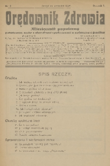 Orędownik Zdrowia : miesięcznik popularny poświęcony walce z chorobami społecznemi a zwłaszcza z gruźlicą. R. 1, 1926, nr2