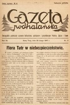 Gazeta Podhalańska : dwutygodnik poświęcony sprawom kulturalnym, społecznym i gospodarczym Podhala, Spisza i Orawy. 1947, nr3