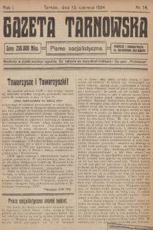 Gazeta Tarnowska : pismo socjalistyczne. R.1, 1924, nr14