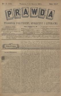 Prawda : tygodnik polityczny, społeczny i literacki. 1905, nr3