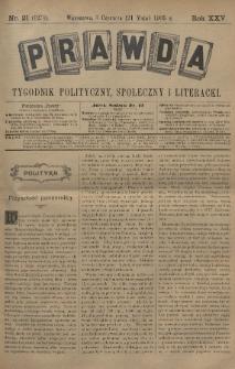 Prawda : tygodnik polityczny, społeczny i literacki. 1905, nr21