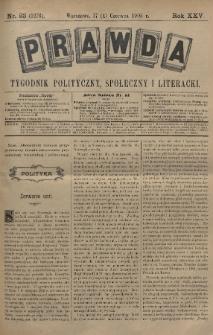 Prawda : tygodnik polityczny, społeczny i literacki. 1905, nr23