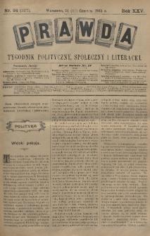 Prawda : tygodnik polityczny, społeczny i literacki. 1905, nr24