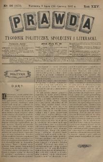 Prawda : tygodnik polityczny, społeczny i literacki. 1905, nr26