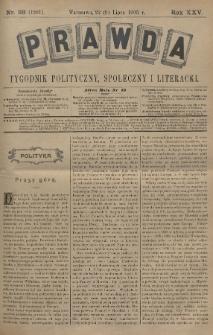 Prawda : tygodnik polityczny, społeczny i literacki. 1905, nr28