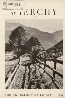 Wierchy : rocznik poświęcony górom. R. 29, 1960