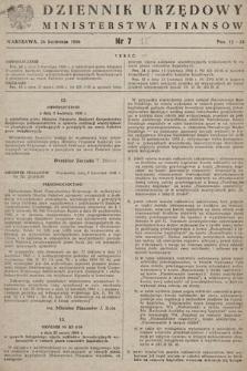Dziennik Urzędowy Ministerstwa Finansów. 1956, nr7