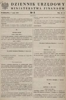 Dziennik Urzędowy Ministerstwa Finansów. 1956, nr8