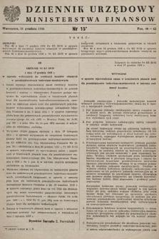 Dziennik Urzędowy Ministerstwa Finansów. 1956, nr15