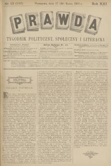Prawda : tygodnik polityczny, społeczny i literacki. R.21, 1901, nr13