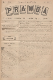 Prawda : tygodnik polityczny, społeczny i literacki. R.26, 1906, nr4