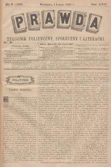 Prawda : tygodnik polityczny, społeczny i literacki. R.26, 1906, nr5