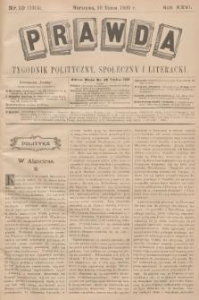 Prawda : tygodnik polityczny, społeczny i literacki. R.26, 1906, nr10