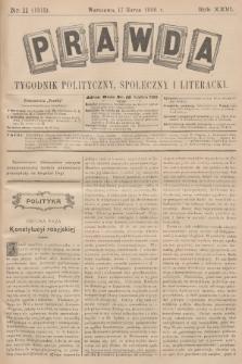 Prawda : tygodnik polityczny, społeczny i literacki. R.26, 1906, nr11
