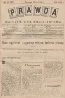 Prawda : tygodnik polityczny, społeczny i literacki. R.26, 1906, nr18