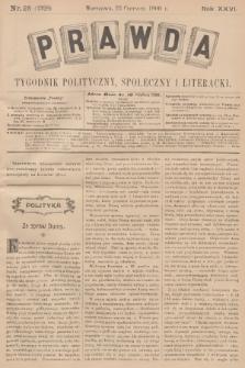 Prawda : tygodnik polityczny, społeczny i literacki. R.26, 1906, nr25