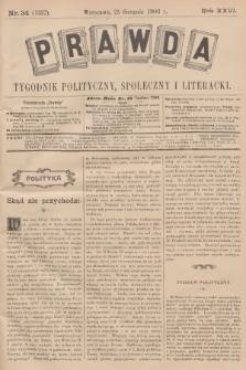 Prawda : tygodnik polityczny, społeczny i literacki. R.26, 1906, nr34