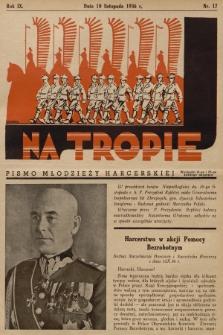 Na Tropie : pismo młodzieży harcerskiej. R.9, 1936, nr17