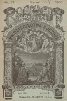 Roczniki Dzieła Św. Dziecięctwa P. Jezusa. R.20, nr1 (1903)
