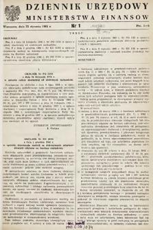 Dziennik Urzędowy Ministerstwa Finansów. 1965, nr1