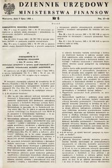 Dziennik Urzędowy Ministerstwa Finansów. 1965, nr6
