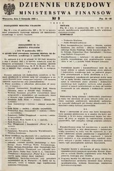 Dziennik Urzędowy Ministerstwa Finansów. 1965, nr9