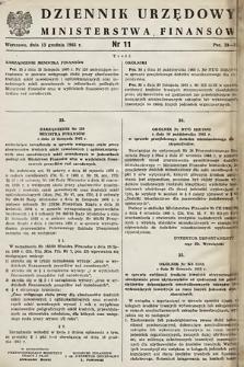 Dziennik Urzędowy Ministerstwa Finansów. 1965, nr11