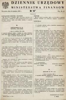 Dziennik Urzędowy Ministerstwa Finansów. 1965, nr12