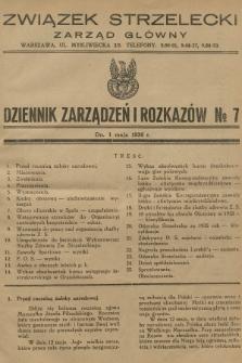 Dziennik Zarządzeń i Rozkazów. 1936, №7