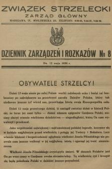 Dziennik Zarządzeń i Rozkazów. 1936, №8