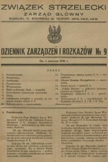 Dziennik Zarządzeń i Rozkazów. 1936, №9