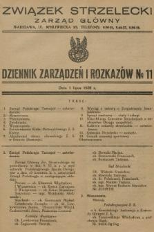 Dziennik Zarządzeń i Rozkazów. 1936, №11