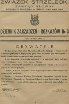 Dziennik Zarządzeń i Rozkazów. 1937, №3