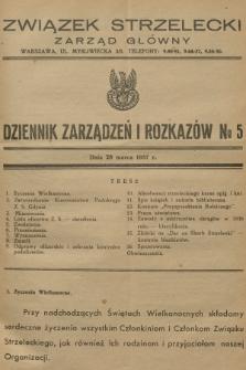 Dziennik Zarządzeń i Rozkazów. 1937, №5